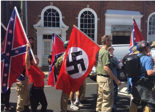 Nazis marching in Charlottesville