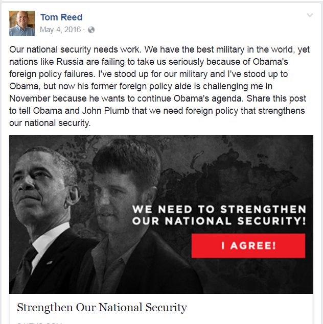 Tom Reed's May 4Facebook Post